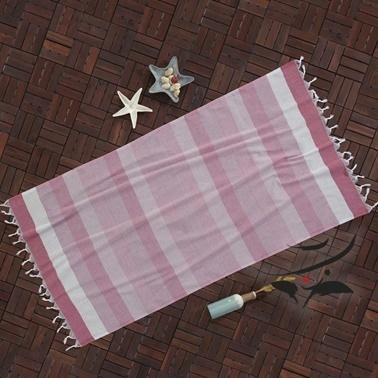 Lady Moda Peştemal White Pink Yüzde Yüz Pamuklu 100x180 cm Renkli